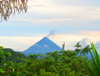 The 4BR 3BA home with apartment at Sabalito has a nice view of Arenal Volcano.