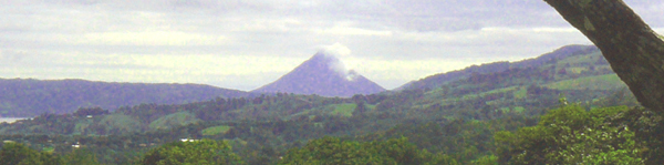 Arenal Volcano is clearly seen from these lots.